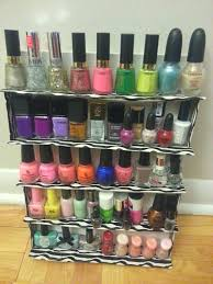 i built my own nail polish rack