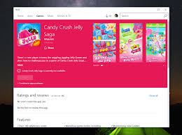 candy crush jelly saga for windows 10 listing appears in the store