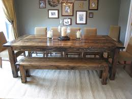 kitchen chairs rustic stained mahogany wood dining table
