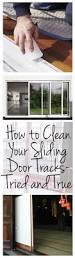 Clean Grease Off Kitchen Cabinets How To Clean Your Sliding Door Tracks Tried And True Wrapped