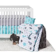 sweet jojo designs earth u0026 sky 11pc crib bedding set turquoise
