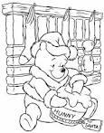 ภาพลายเส้นระบายสีหมีพู ต้อนรับปีใหม่ 2556 สำหรับน้องๆอนุบาล ...