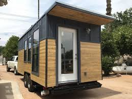 Sip Tiny House This Is A Modern Industrial Tiny House On Wheels It U0027s Located In