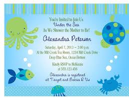 Sensational Theme by Under The Sea Baby Shower Invites Kawaiitheo Com