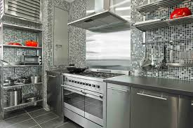 Stainless Steel Kitchen Furniture by Delightful Stainless Steel Kitchen Cabinets With Blue Color