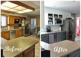 How To Remodel Old Kitchen Cabinets Remodelaholic Grey And White Kitchen Makeover