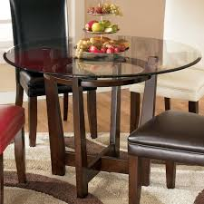 Ashley Furniture Round Dining Sets Signature Design By Ashley Charrell Round Glass Top Table Ahfa