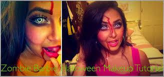Halloween Barbie Makeup by Zombie Barbie Halloween Makeup Tutorial Youtube