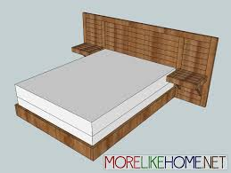 How To Build A Queen Platform Bed Frame by More Like Home Day 6 Build A Simple Modern Bed