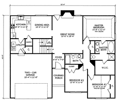 country style house plan 3 beds 2 00 baths 1555 sq ft plan 412 105