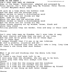 Home On The Range by Peter Paul And Mary Song Home On The Range Lyrics