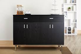 amazon com iohomes knox 2 doors buffet black buffets u0026 sideboards