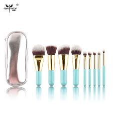 free shipment synthetic hair lovely mini makeup brushes set 9
