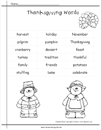 paper for writing thanksgiving printouts and worksheets thanksgiving word list