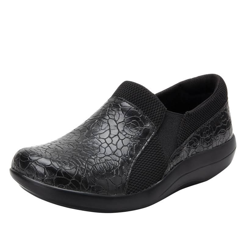 Alegria Duette Slip On Shoe 7-7.5 US in Flourish Black