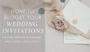 how to budget your invitations u2013 cecile u0027s paper co