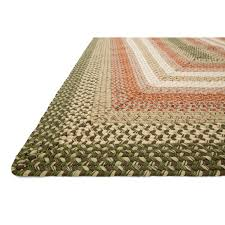 Green And Beige Rug D69 Green And Orange Braided Rug 7 5x9 5 Ft At Home At Home