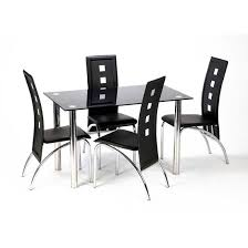 Chair Glass Dining Table And Chairs Set Of  Clearance  Uotsh - Black dining table for 4