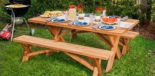 Wooden Folding Picnic Table Plans by 20 Free Picnic Table Plans Enjoy Outdoor Meals With Friends