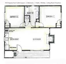 1 Bedroom Log Cabin Floor Plans by 2 Bedroom Cabin Plans