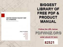 Water Ridge Kitchen Faucet Replacement Parts Water Ridge Faucet Nsf 61 9 Manual Youtube