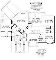 French Style Floor Plans Castlebrook Manor House Plan Estate Size House Plans