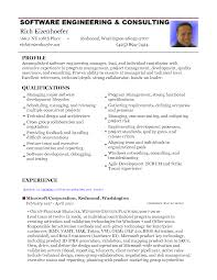 Resume Samples Of Software Engineer by Resume Format Experienced Software Engineer Free Resume Example