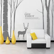 Home Decor Birds by Large Birds Birch Tree Buck Wall Stickers Forest Wall Decal Home