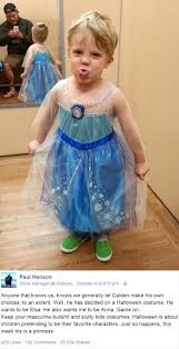4 year old boy halloween costumes boy wanted to be elsa for halloween and his dad had the best
