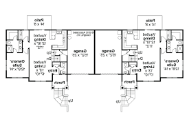 one level duplex craftsman style floor plans plan 1261 bfloor