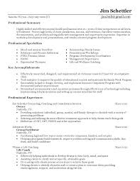 occupational therapy resume examples resume counselor resume for your job application behavioral health counselor resume sample