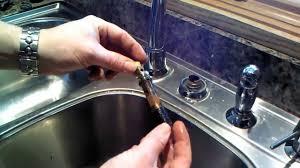Replacing Kitchen Faucet Moen Kitchen Faucet 1225 Cartridge Repair Or Replacement Youtube