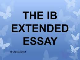 Ib extended essay guidelines      NEXT Business Media
