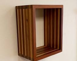 Floating Box Shelves by Rustic Box Shelves Set Of 3 Floating Box Shelves Floating