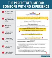 perfect example of a resume 7 reasons this is the ideal resume for someone with no work 7 reasons this is the ideal resume for someone with no work experience entry level resumeentry level jobssample