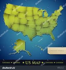 Untied States Map United States Map All 50 States Stock Vector 89354128 Shutterstock