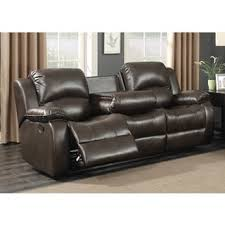 reclining sofa with drop down table and drawer free shipping