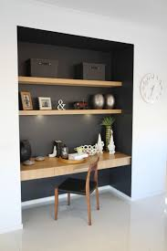 best 25 built in desk ideas on pinterest home study rooms kids study nook somewhere in main living zone like the contrast dark colour and wood detailing