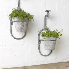 Outdoor Wall Planters by Wall Planter Modular Wall Mounted Planters Wall Mounted Planters