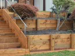 Wam Home Decor by Exciting Timber Sleeper Retaining Wall 27 On Home Decor Ideas With