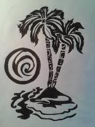 tribal un palmier l ury13 dessin