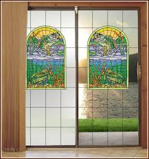 stained glass door film big fish creek stained glass door panel privacy and see through