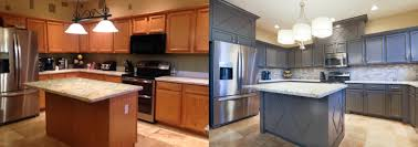 Restaining Kitchen Cabinets Refurbished Kitchen Cabinets Before And After Tehranway Decoration