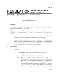 Cover Letter For Substitute Teacher 100 Resume Format For Kindergarten Teacher Fresher Resume