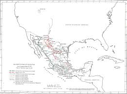Mexico Map 1800 by Mexico Map The Constitutionalist Revolution