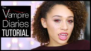 vampire diaries inspired halloween makeup tutorial youtube