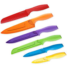 amazon com top chef 6 piece professional grade colored knife set
