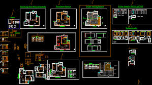2 bhk flat dwg layout plan and interior design of 2 bhk flat