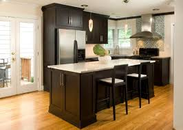 Tiled Kitchen Table by White Countertops Dark Cabinets White Tile Pattern Ceramic
