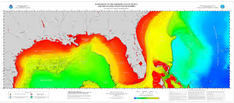 Large Map Of Florida by Poster Northern Gulf Of Mexico And Atlantic Coast Bathymetry Ncei